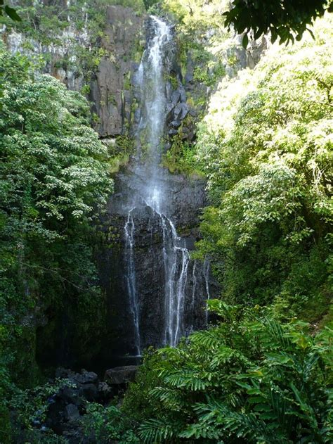 The road to hana, also known as the hana highway, is one of maui's most popular scenic drive featuring scenic views of tropical rainforests, waterfalls and black sand beaches. Road to Hana Waterfalls - Maui, Hawaii | Kihei, Hawaii ...