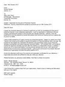 cover letter for preschool resume early childhood cover letter best letter exles