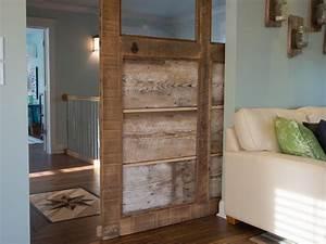 How to build a reclaimed wood sliding door how tos diy for Barnwood pocket door