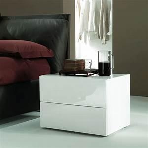 Nachttisch Weiß Glas : enea 01 nachttisch bontempi casa aus holz und glas mit schubladen in verschiedenen gr en ~ Indierocktalk.com Haus und Dekorationen