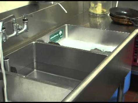 three compartment sink set up 3 sink dishwashing method landscapesafety com youtube