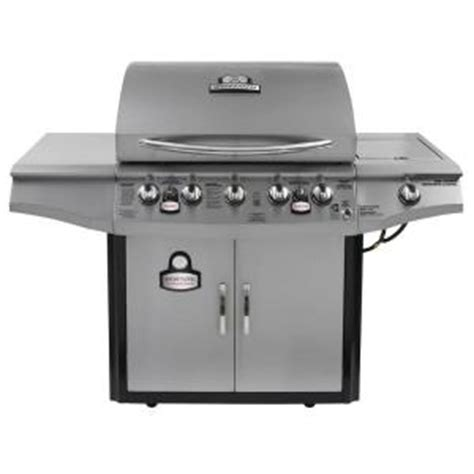 brinkmann 5 burner gas grill brinkmann smoke n 5 burner propane gas grill 810 1751 sc the home depot