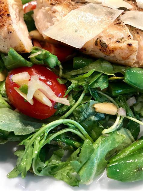 chicken paillard  spring green salad tastecreations