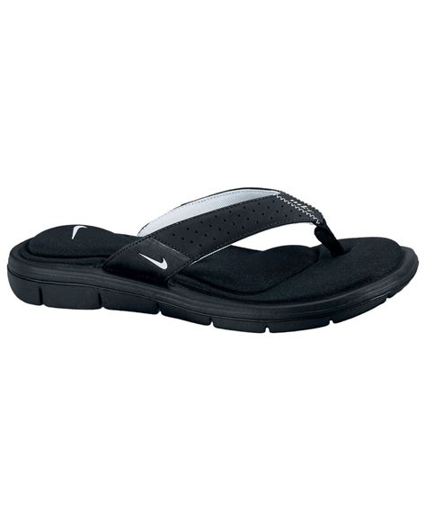 womens nike comfort sandals nike comfort sandals from finish line in black lyst