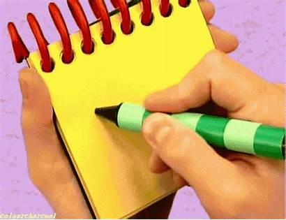 Clues Drawing Blues Notebook Pistas Drawings Steve