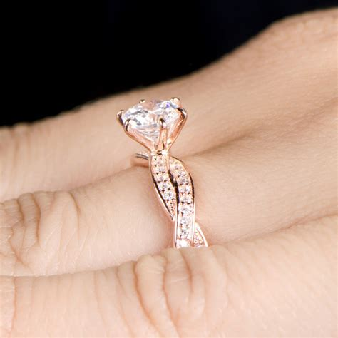 rose gold engagement rings collection