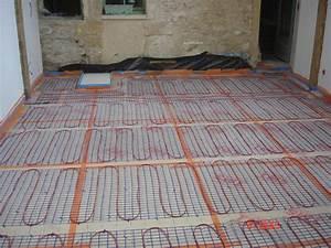 Sol Chauffant Électrique : pose chauffage au sol electrique thermor ~ Melissatoandfro.com Idées de Décoration