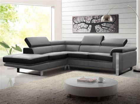 vente canape canapé d 39 angle en cuir de vachette 4 coloris mystique