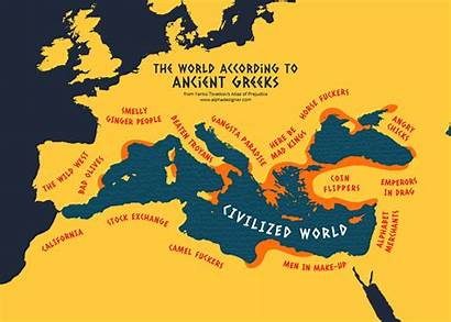 Greece Ancient According Maps Greeks Stereotypes Funny