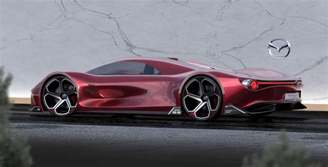 outrageous concept  called  mazda rx  vision longtail