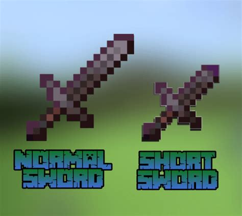 Short Swords More Swords Add On Minecraft Pe Mods And Addons