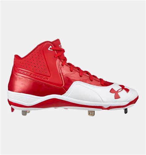 discount ua ignite mid st cc baseball cleats ua cleat shoes