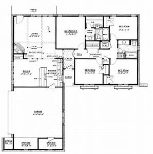 Ranch Style House Plan - 4 Beds 2.00 Baths 1500 Sq/Ft Plan ...