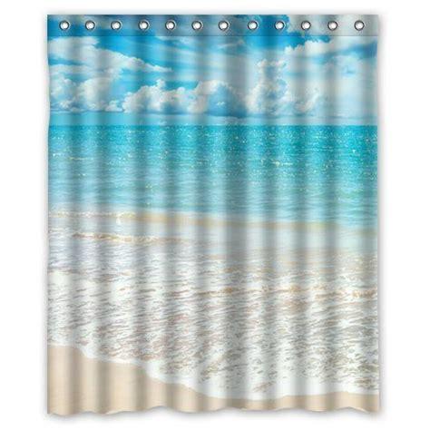 beach theme custom ocean waves california paradise shower