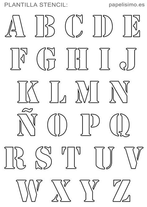 plantillas abecedario stencil para imprimir con 241 papelisimo