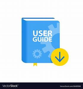 User Guide Book Download Icon Flat Royalty Free Vector Image