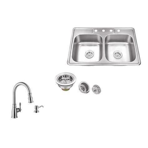 c tech sinks distributors ipt sink company drop in 33 in 4 hole stainless steel