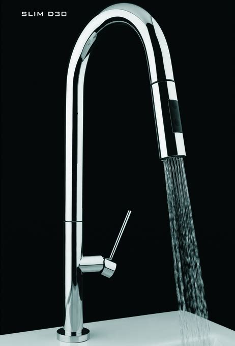 Italian Designer Kitchen Faucet With Pullout Dual Shower