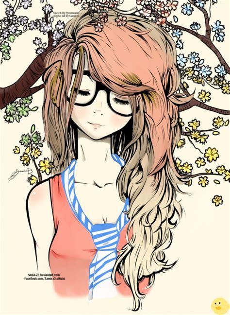 drawn girl cute pencil   color drawn girl cute