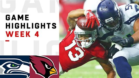 seahawks  cardinals week  highlights nfl  youtube