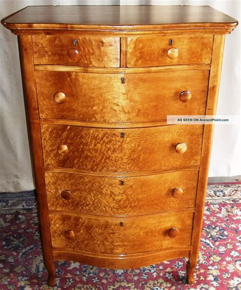 Birdseye Maple Highboy Dresser by Birdseye Maple Furniture Dresser Drawers