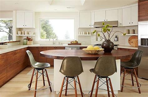 Mill Valley Kitchen Redesign Mixes White And Dark Walnut