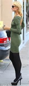ferrari classic convertible paris hilton brings back in form fitting dress as she