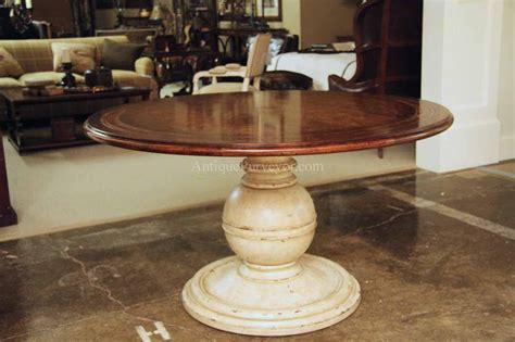 white pedestal kitchen table round country wood table and painted pedestal base for kitchen