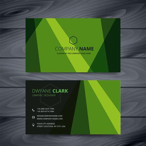 green business card design template   vector
