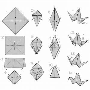 Origami Kranich Anleitung : doodlecraft origami flapping paper crane mobile ~ Frokenaadalensverden.com Haus und Dekorationen