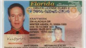 a man in florida changed his name to kraftwerk 6am With florida drivers license template