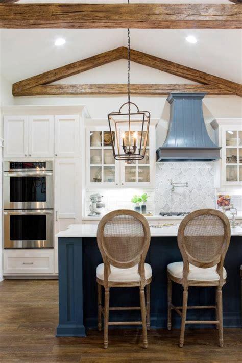 light  bright kitchen  exposed beam vaulted