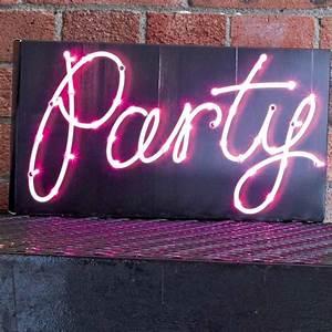 party sign illumination by bunting & barrow