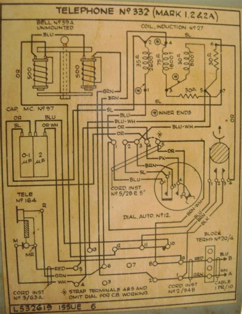 Antique Phone Wiring Diagram by Tele No 332