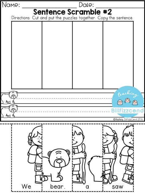 best 25 sentence building ideas on make 427 | 550bedb7ad1f646bad80c5182ba075fd spring for kindergarten kindergarten morning work