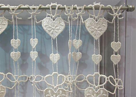macrame rideau cuisine petit rideau cantonnière macramé coeur écru petit rideau