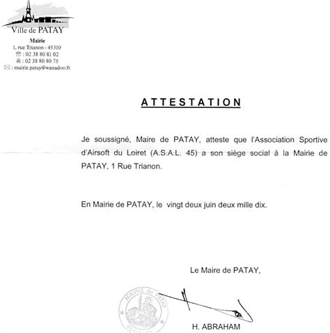 modification si e social association siege social mairie de patay