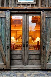Double, Wooden, Glass, Barn, Entry, Doors