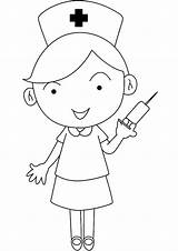 Nurse Coloring Nursing Nurses Pages Cartoon Drawing Doctor Template Clipart Careers Visit Binder Kitty Hello Simple Templates Give sketch template