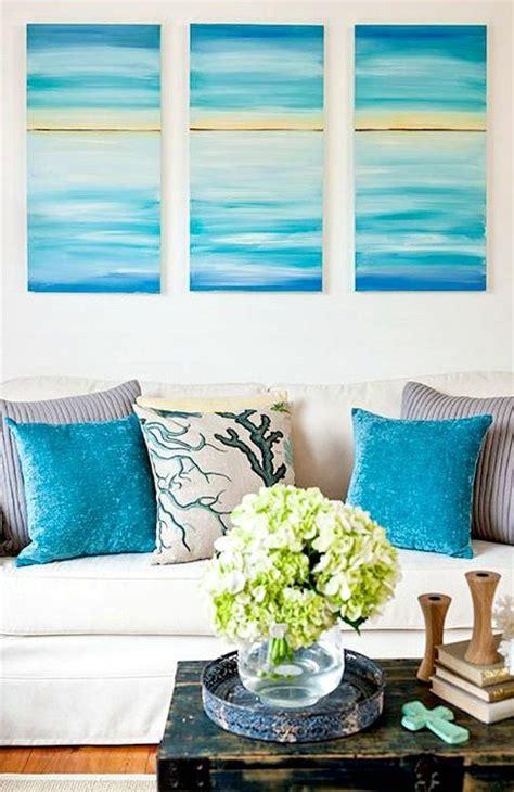 create  soothing beach vibe  easy diy ocean canvas