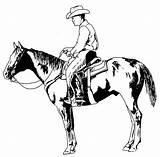 Cowboy Characters Coloring Printable Drawing Drawings sketch template