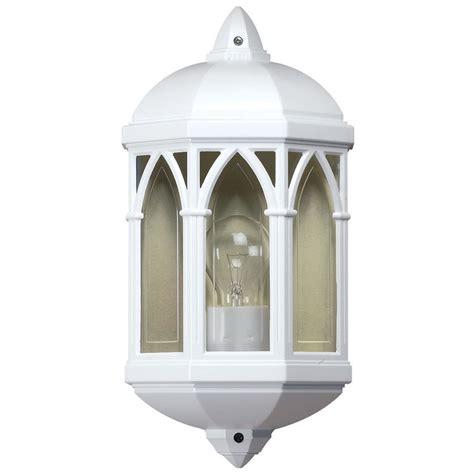 endon lighting white outdoor flush mounted wall light