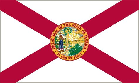 Florida State Flag Coloring Pages Florida State Flag And