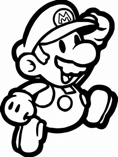 Mario Coloring Pages Paper Super Bros Printable