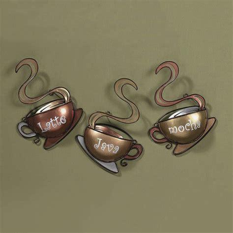 Coffee House Cup Mug Latte Java Mocha Metal Wall Art Home
