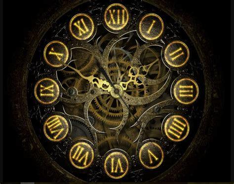 cool steampunk clock image wallpaper hd wallpaper