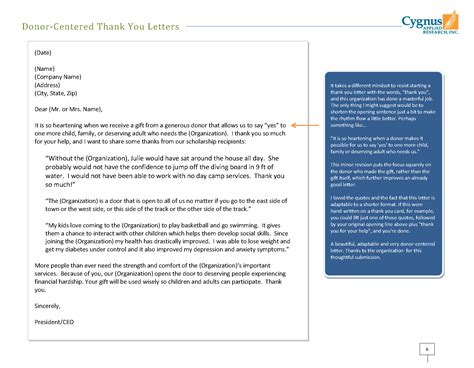 donor centered   letters   step    gift burks blog