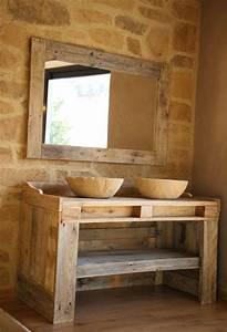 Waschtischplatte Holz Aufsatzwaschtisch : europalette holz paletten badeinrichtung waschbecken unterschrank wohnung pinterest ~ Sanjose-hotels-ca.com Haus und Dekorationen