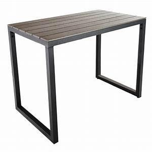 Table De Jardin Grise : table de jardin haute en composite imitation bois et ~ Dailycaller-alerts.com Idées de Décoration