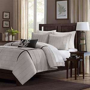 Couvre Lit Amazon : home essence lancaster 4 piece comforter set gray contemporain couvre lit et parure couvre ~ Teatrodelosmanantiales.com Idées de Décoration
